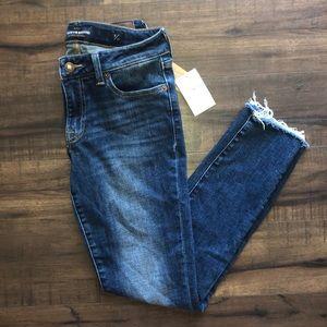 Lucky Brand Lolita Skinny Frayed Jeans